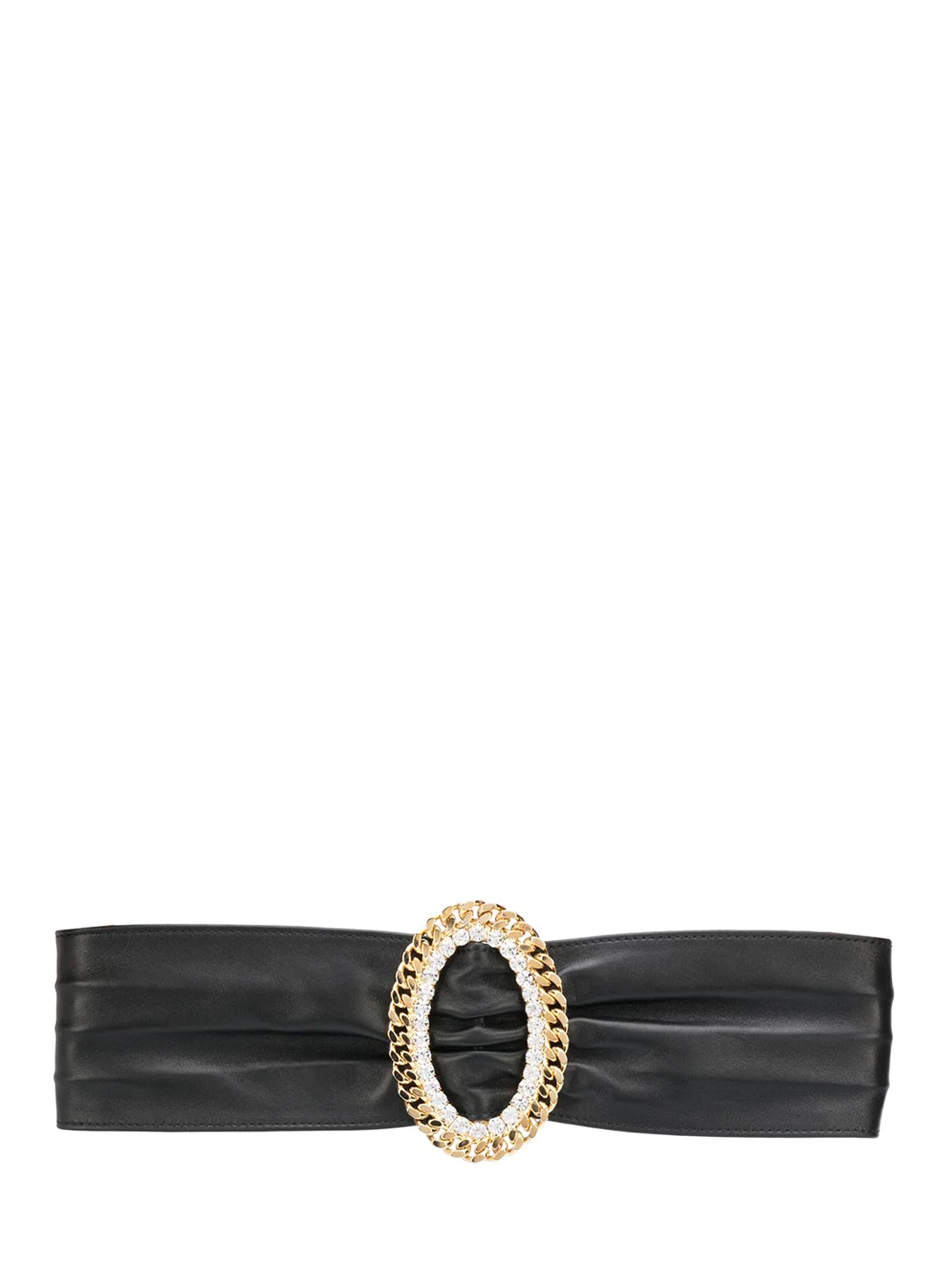 Alessandra Rich LEATHER BELT WITH CRYSTALS