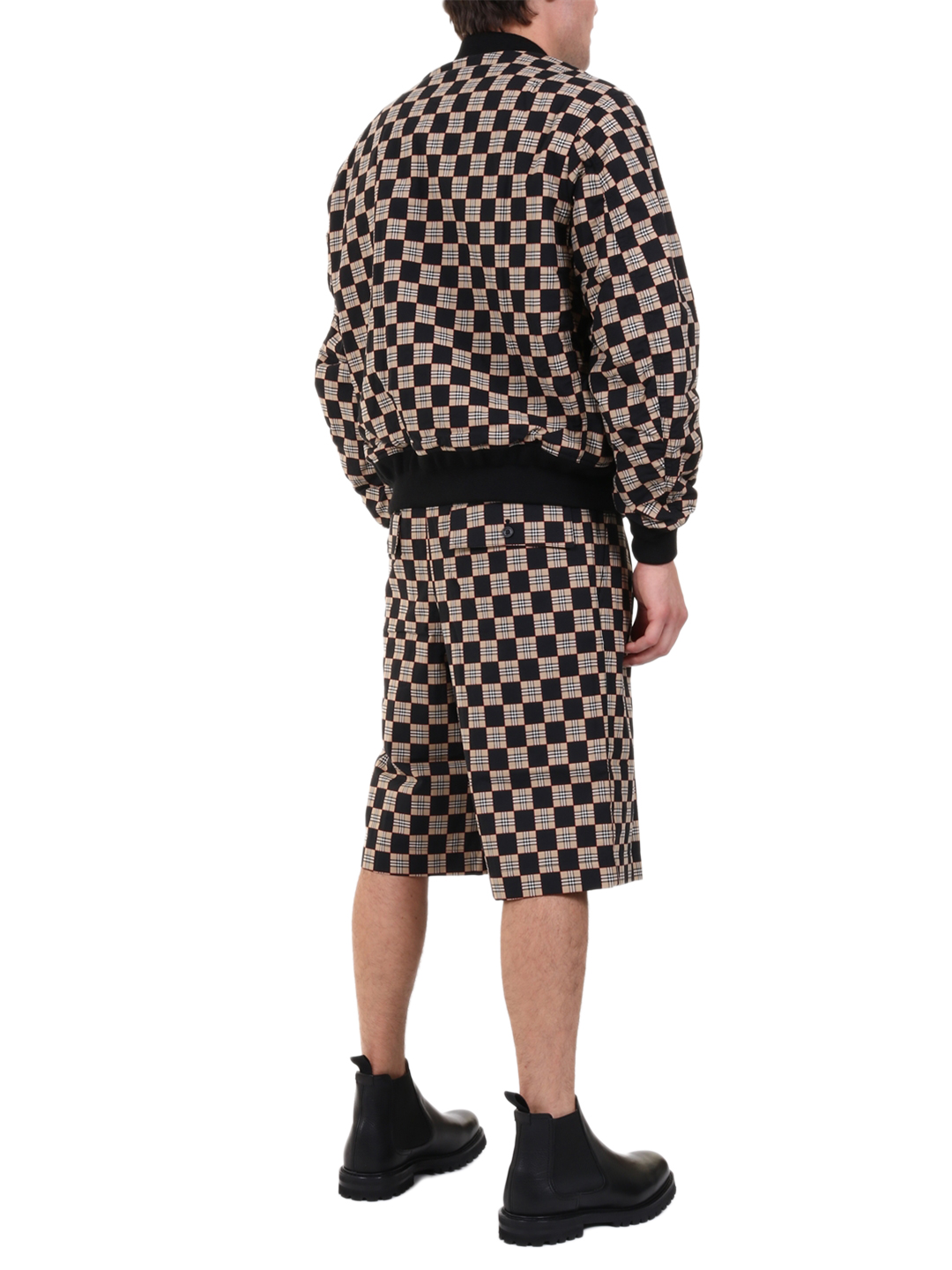 BURBERRY Cottons CHECKERBOARD BOMBER