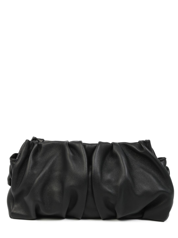 Elleme Black Leather Shoulder Bag