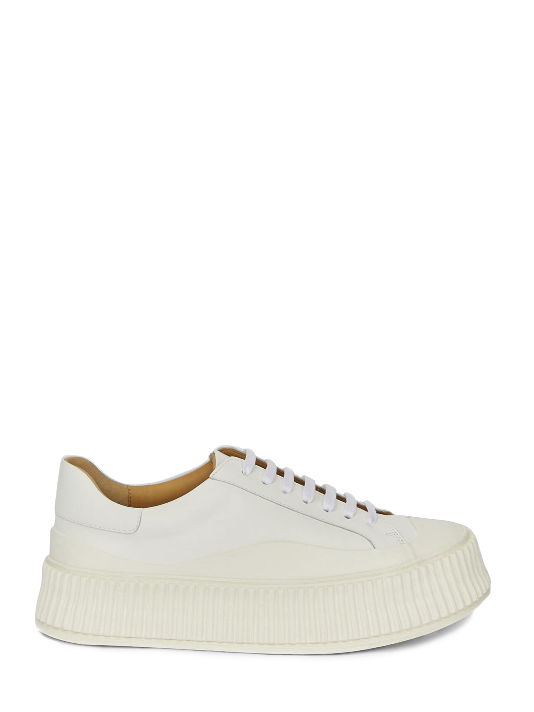 Jil Sander LEATHER SNEAKER WHITE