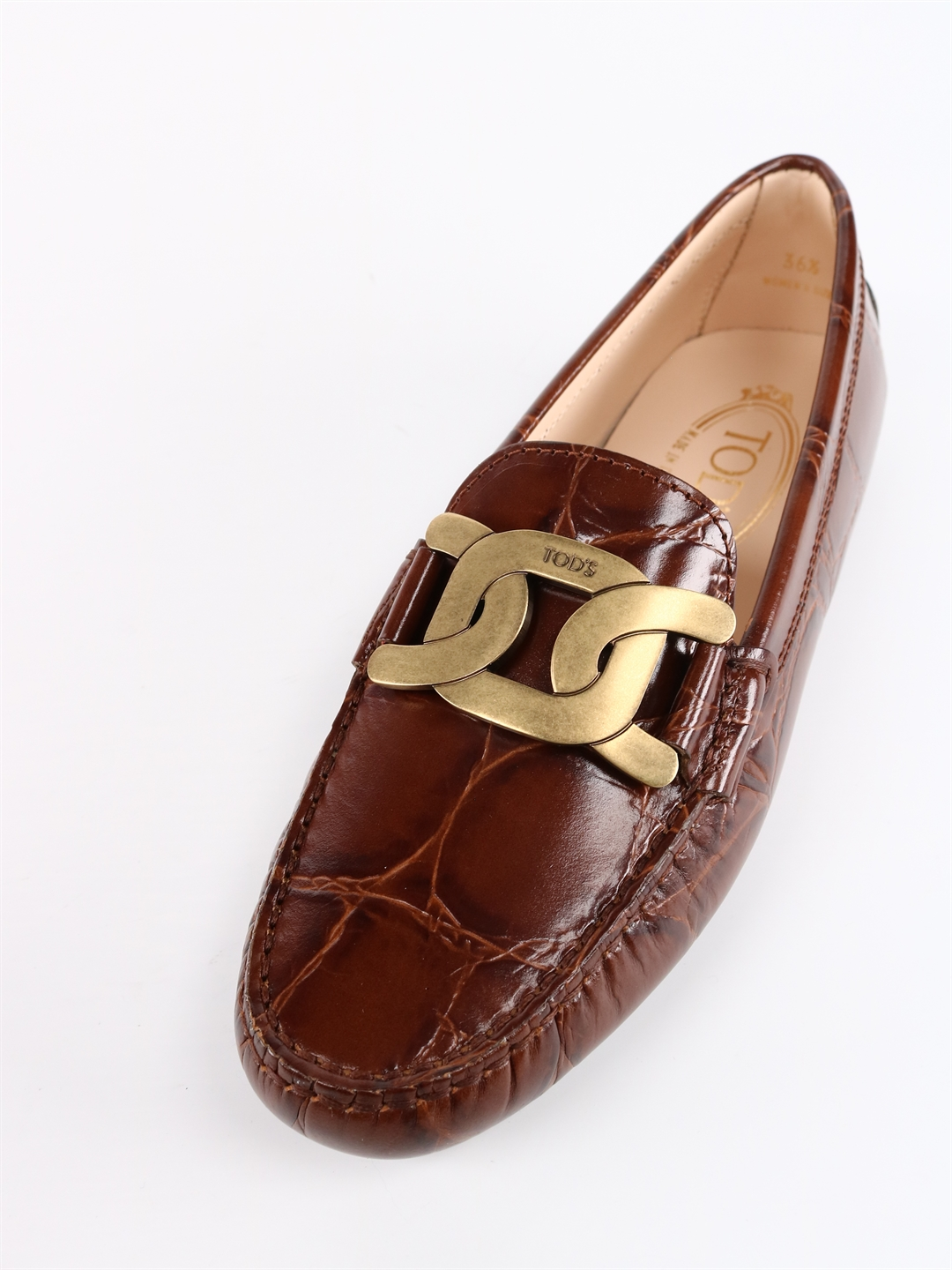 TOD'S Leathers KATE GOMMINI MOCASSIN BROWN