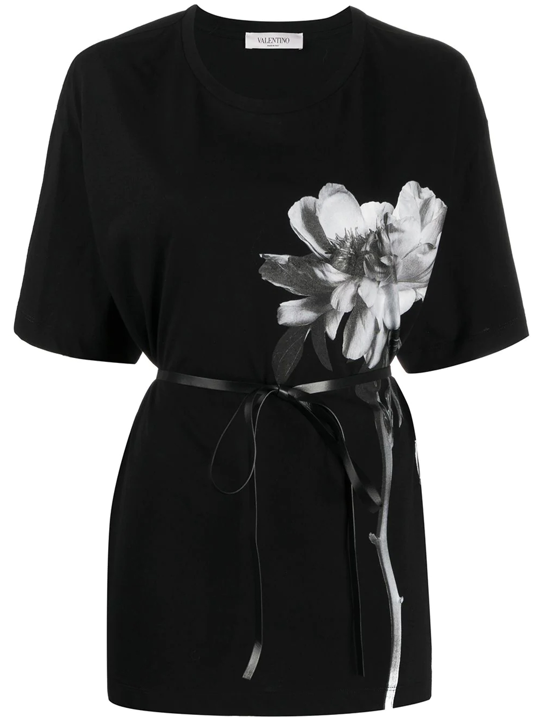 Valentino T-shirt With Belt In Black
