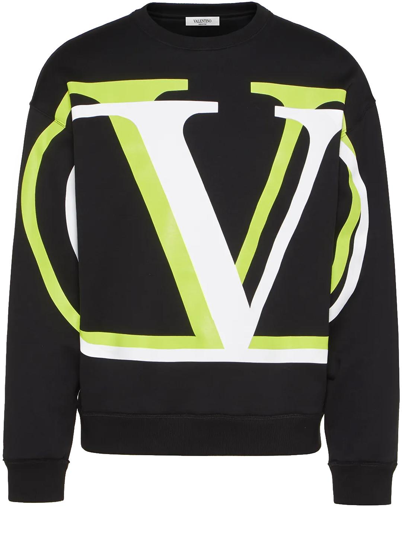 Valentino SWEATSHIRT V LOGO BLACK