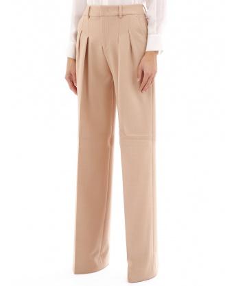 Pantaloni palazzo beige