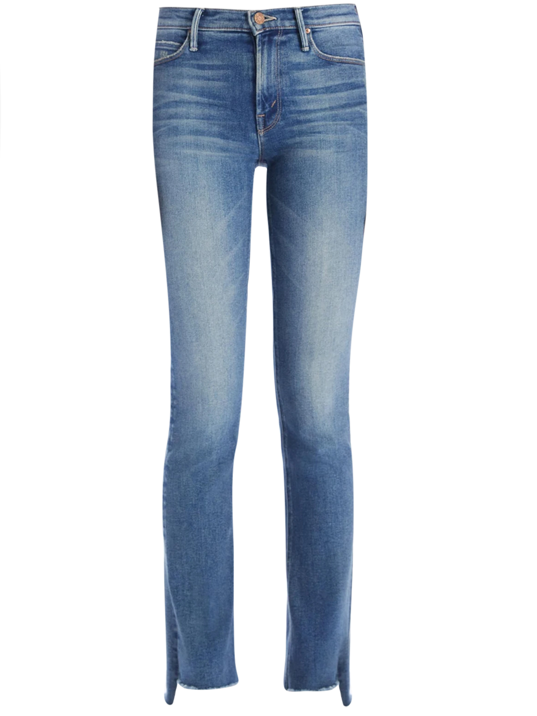 Mother Skinny Jeans In Blue